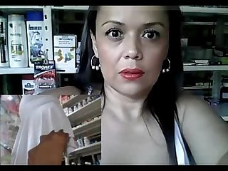 Horny milf working and masturbating at the pharmacy part 11 getmycam com