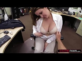 Busty and horny business woman gets banged hard in shawns office