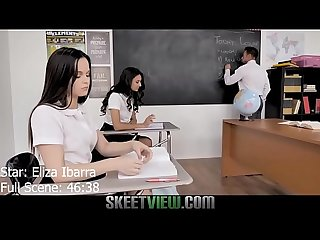 Teen eliza ibarra sex with teacher sloppy head and facial cumshot