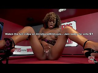 Girls gone wild beautiful comma young black woman evi rei plays with her pussy for us