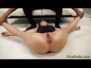 Flexi lucy doll gets extreme stretched