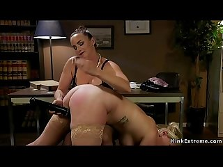 Boss lawyer anal fucks big ass blonde