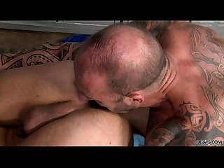 Vic Rocco and Adrian Suarez fuck in the gay locker room