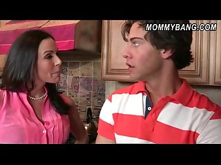 Busty milf kendra lust busted teen couple fucking in the kitchen