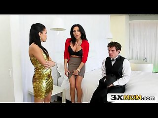 Milf seduces Young Couple into A naughty 3some jaclyn taylor megan rain