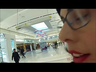 Public cum walk at the mall