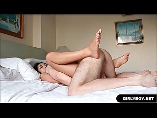 Ladyboy Loves Taking Hard Dick