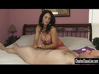 Big tit milf charlee chase hj while hubby is away