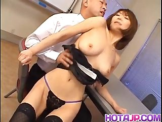 Jun kusanagi asian milf gets pussy licked and anus fingered before hardcore fucking