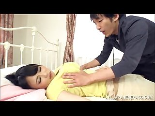 Busty japanese milf pleases a dude with a breath taking titj
