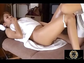 Amazing asian gets a massage which turned to a fuck session
