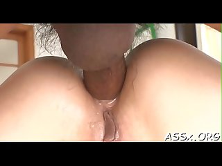 Naughty oriental oral-stimulation and shaving