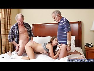 College babe naomi Alice sucks old men cocks