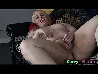 Tattooed fat tgirl gets naked for the whole city