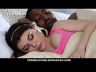 TeensLoveBlackCocks - Teen Wakes up Hot Step-Brother to fuck