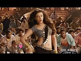 Can t control hot and sexy indian actresses kajal agarwal showing her tight juicy butts and big boob