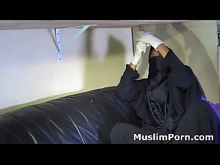 Muslim Allstars#1 Niqab Milking Table- Muslim Teen Creampie- Muslim Teen Blowjob-..