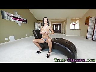 Pov slut titty fucking