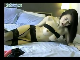 Gorgeous Korean girl ohmibod torture in lingerie camstationtv com