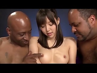 Asian girl ruka kanae interracial fucking 2 big black cock