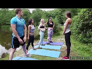 Cfnm yoga brit dominas