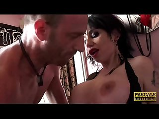 PASCALSSUBSLUTS - UK nympho Gina Snake fed cock by maledom