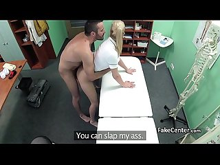 Horny nurse fuck handyman in hospital