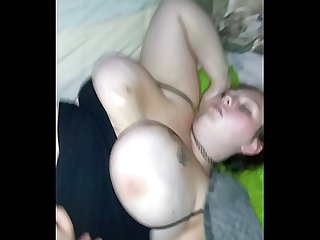 Fucking my Sleeping wifes wet fat pussy