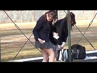 School girls peeing1