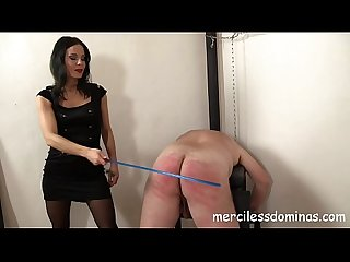 Lady G spanks her slave painful punishment