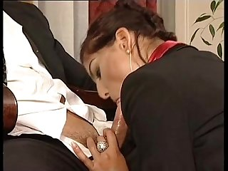 Hot secretary in mini skirt banged by her head office