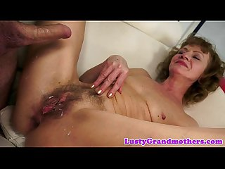 Saggytit grandma anally fucked and toyed