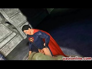 Hottie hentai superman assfucking a big guy