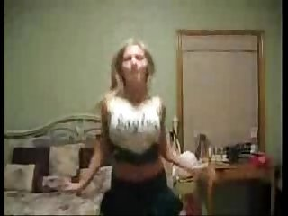 Hot Cheerleader Dancing In Her Dorm Room - spankbang.org