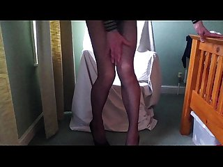 Penny tranny in fishnets and heels