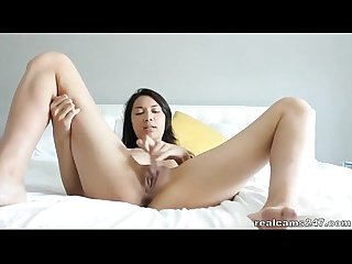 Hottest asian camgirl masturbates