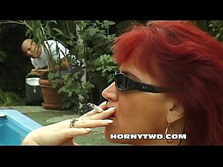 Big chubby big tit redhead milf getting fucked after fat blowob