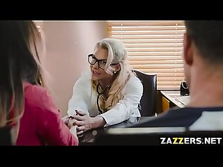 Dr. Marie stimulates Preston's sex drive by sucking and fucking him