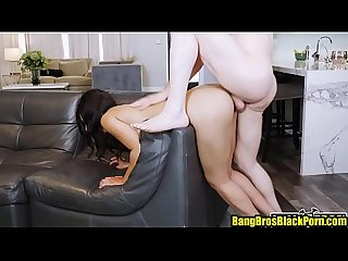 Hot mulatto babe fucked by the handy man