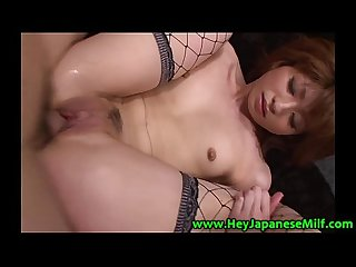 Mature asian milf with small tits fucked from behind