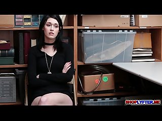Amateur thief ivy aura shoplifts and got pounded