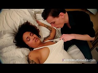 Ebony stepsister Kingsley fucked by brother and gets facial - bwwm taboo family