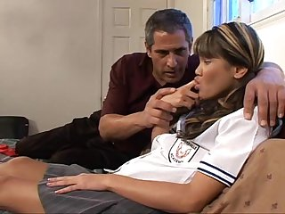 Naughty asian schoolgirl hard fucked by her teacher