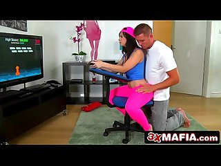Video game beauty nekane sweet can t put controller down even when fucked