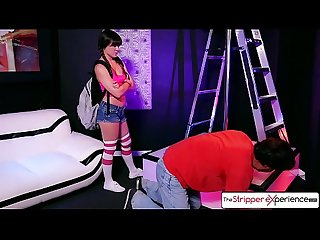 The stripper experience teen alison rey is punished by a big dick big booty