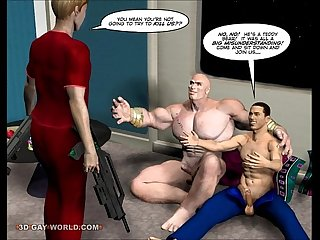 First anal contact 3d gay cartoon comic anime story