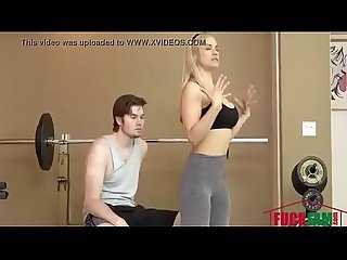 Fitness Trainer MILF Fucks Client For Free