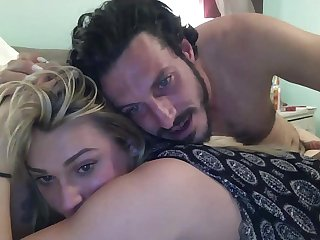 Blonde shemale and boyfriend on basedcams com