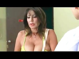 Big tits cheated housewife fuck hard by her son