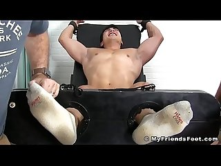 Asian jock Axel Kane restrained and tickled relentlessly